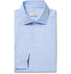 Etro White Slim-Fit Cotton-Poplin Shirt
