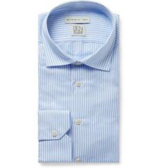 Etro Light-Blue Striped Slub Cotton and Linen-Blend Shirt