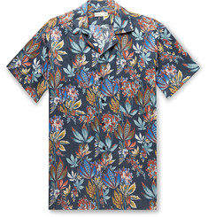 Etro Camp-Collar Printed Linen Shirt
