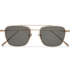 Cubitts Collier Aviator-Style Gold-Tone Sunglasses