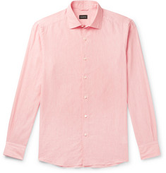 Ermenegildo Zegna Slub Linen and Cotton-Blend Shirt