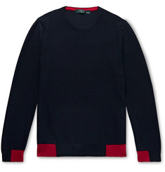 Incotex Contrast-Tipped Cotton Sweater