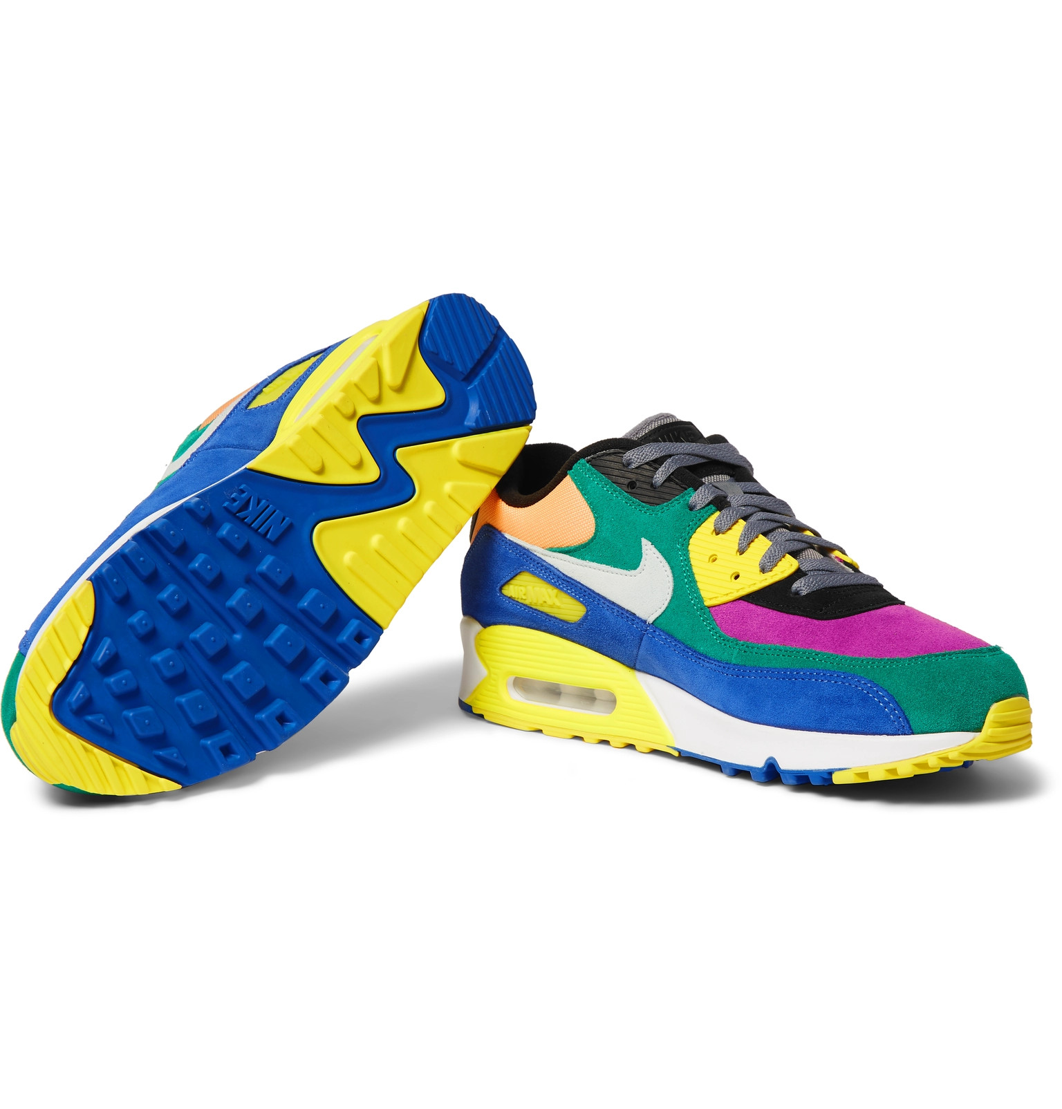 Nike Air Max 90 QS Viotech 2.0 Suede, Canvas and Mesh Sneakers