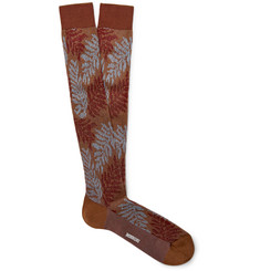 Missoni Intarsia Cotton-Blend Over-The-Calf Socks