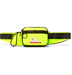 Off-White Logo-Appliquéd Neon Shell Belt Bag