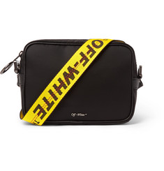 Off-White Logo-Appliquéd Leather-Trimmed Canvas Messenger Bag