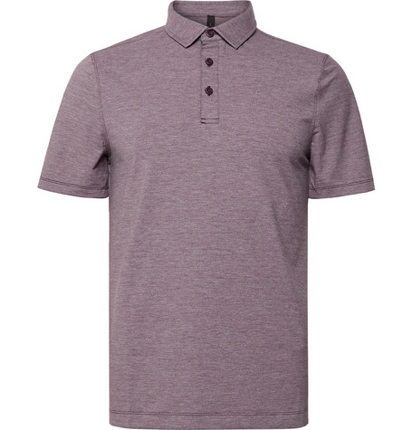Lululemon Evolution Mélange Stretch-Jersey Polo Shirt