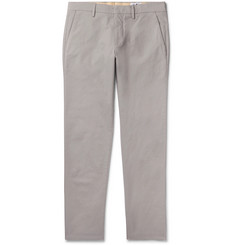 NN07 Light-Grey Theo Slim-Fit Cotton-Blend Chinos