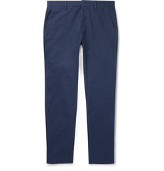 NN07 Navy Theo Slim-Fit Brushed Cotton-Blend Twill Chinos