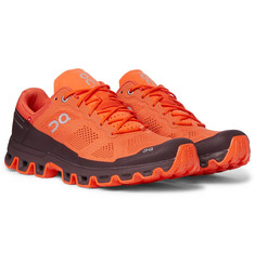 On Cloudventure Rubber-Trimmed Mesh and Shell Trail Running Sneakers