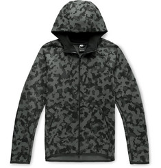 Nike Camouflage-Print Cotton-Blend Tech Fleece Zip-Up Hoodie