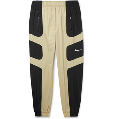 Nike Tapered Logo-Embroidered Colour-Block Shell Track Pants