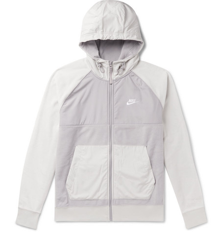 Shell Panelled Fleece Zip Up Hoodie by Nike