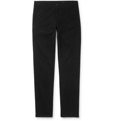 AG Jeans Black Marshall Slim-Fit Brushed Cotton-Blend Trousers