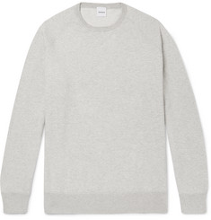 Aspesi Mélange Loopback Cotton, Cashmere and Wool-Blend Jersey Sweatshirt