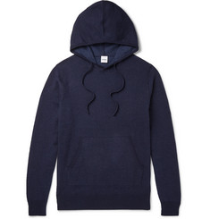 Aspesi Mélange Loopback Cotton, Cashmere and Wool-Blend Jersey Hoodie
