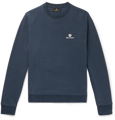Belstaff Logo-Embroidered Mélange Loopback Cotton-Jersey Sweatshirt