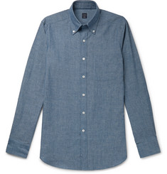 Beams F Button-Down Collar Cotton-Chambray Shirt