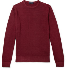 Beams F Garment-Dyed Merino Wool Sweater