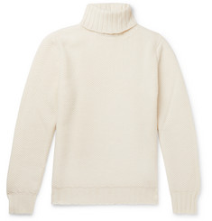 Beams F Slim-Fit Honeycomb-Knit Merino Wool Rollneck Sweater