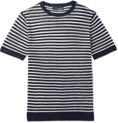Lardini Slim-Fit Striped Linen T-Shirt