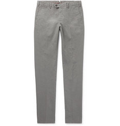 Loro Piana Slim-Fit Washed Stretch-Cotton Chinos