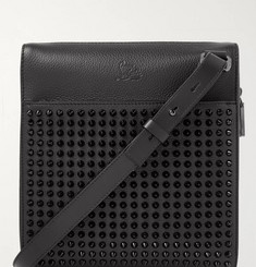 Christian Louboutin Benech Reporter Spiked Leather Messenger Bag