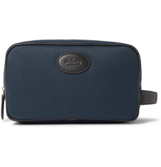 Mulberry Leather-Trimmed Nylon Wash Bag