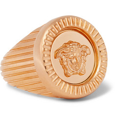 Versace Gold-Tone Signet Ring