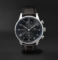 IWC SCHAFFHAUSEN Portugieser Chronograph Automatic 41mm Stainless Steel and Alligator Watch