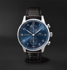 IWC SCHAFFHAUSEN - Portugieser Chronograph Automatic 41mm Stainless Steel and Alligator Watch
