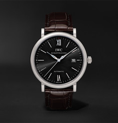 IWC SCHAFFHAUSEN Portofino Automatic 40mm Stainless Steel and Alligator Watch