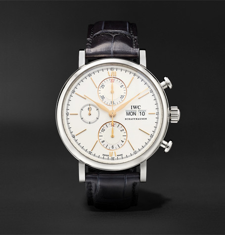 portofino-automatic-chronograph-42mm-stainless-steel-and-alligator-watch,-ref-no-iw391031 by iwc-schaffhausen