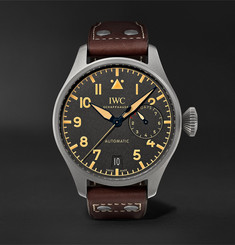 IWC SCHAFFHAUSEN Big Pilot's Heritage Automatic 46.2mm Titanium and Leather Watch