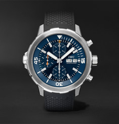 IWC SCHAFFHAUSEN - Aquatimer Chronograph Expedition Jacques-Yves Cousteau Edition Automatic 40mm Stainless Steel and Rubber Watch