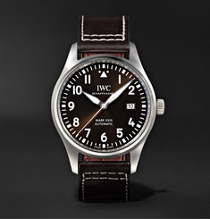 IWC SCHAFFHAUSEN Pilot's Mark XVIII Automatic 40mm Stainless Steel and Leather Watch, Ref. No. IW327003