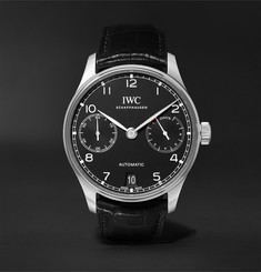 IWC SCHAFFHAUSEN Portugieser Automatic 42.3mm Stainless Steel and Alligator Watch