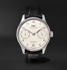 IWC SCHAFFHAUSEN - Portugieser Automatic 42.3mm Stainless Steel and Alligator Watch