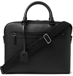 Ermenegildo Zegna Cross-Grain Leather Briefcase