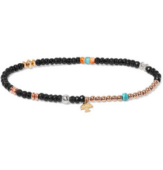 Peyote Bird Onyx, Turquoise, Oyster, Sterling Silver and Gold-Fill Bracelet