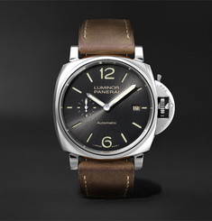 Panerai Luminar Due Automatic 42mm Stainless Steel and Leather Watch