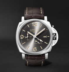 Panerai Luminor Due GMT Automatic 45mm Stainless Steel and Alligator Watch, Ref. No. PNPAM00944