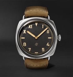 Panerai Radiomir California Hand-Wound 47mm Stainless Steel and Suede Watch, Ref. No. PNPAM00424
