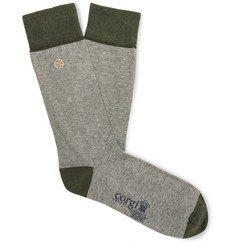 Kingsman Striped Cotton-Blend Socks