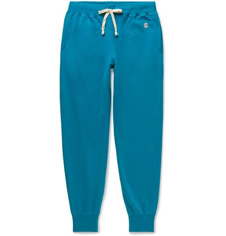 Champion Pants TAPERED LOOPBACK COTTON-JERSEY SWEATPANTS