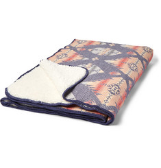 Faherty Fleece-Lined Organic Cotton Jacquard Blanket