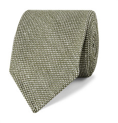 Drake's 7.5cm Linen and Silk-Blend Tie