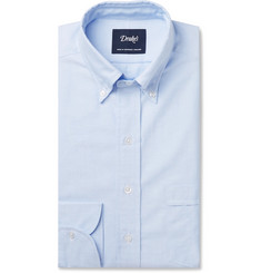 Drake's Light-Blue Button-Down Collar Cotton Oxford Shirt