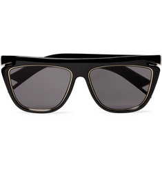 Fendi Square-Frame Acetate and Gold-Tone Sunglasses
