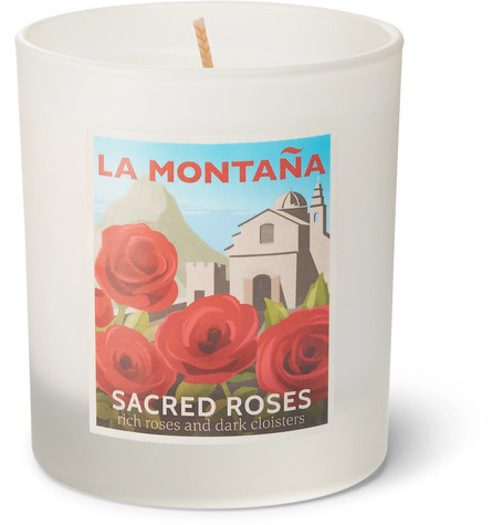 La Montaña Sacred Roses Scented Candle, 220g
